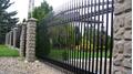 Металлический кованый забор черного цвета (секционный)