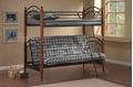 Детская двухъярусная кованая кровать