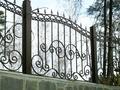 Кованый секционный металлический забор