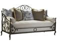 Металлический французский диван