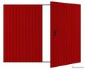 Ворота распашные. Профлист с 2-х сторон, цвет стандартный.