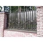 Металлический секционный кованый забор с поликарбонатом