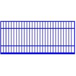 Распашные ворота. Обрешетка, цвет стандартный.