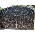 Металлические кованые распашные ворота