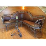 Угловой кованый диван в интерьере