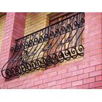 Балконное ограждение из кованого металла