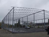 Металлический строительный навес